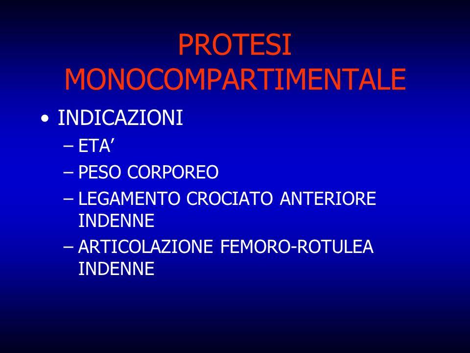 PROTESI MONOCOMPARTIMENTALE