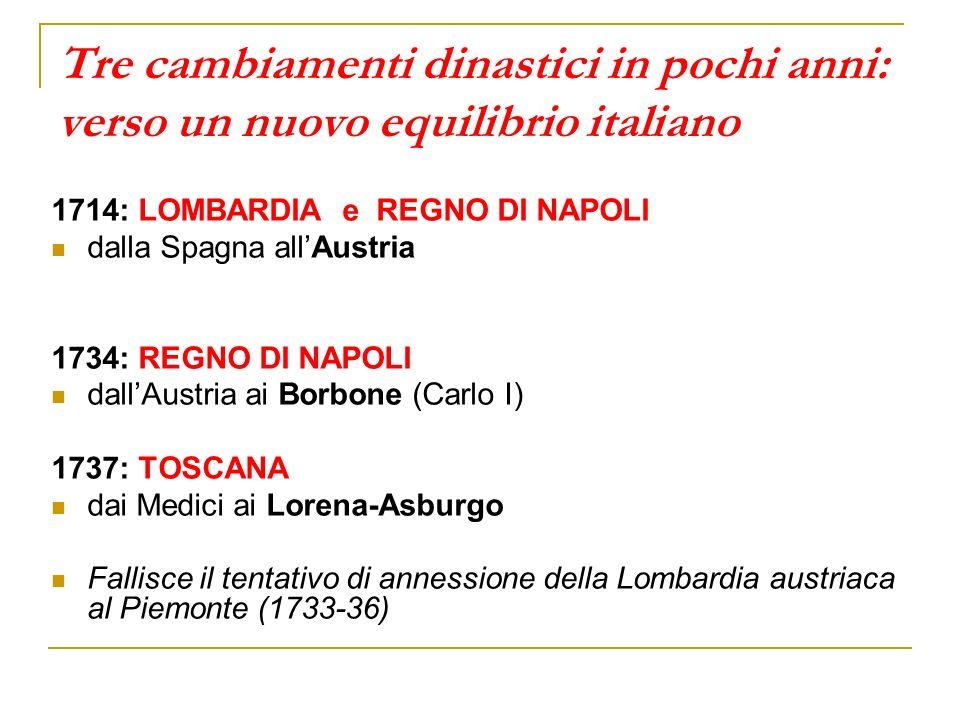 Tre cambiamenti dinastici in pochi anni: verso un nuovo equilibrio italiano