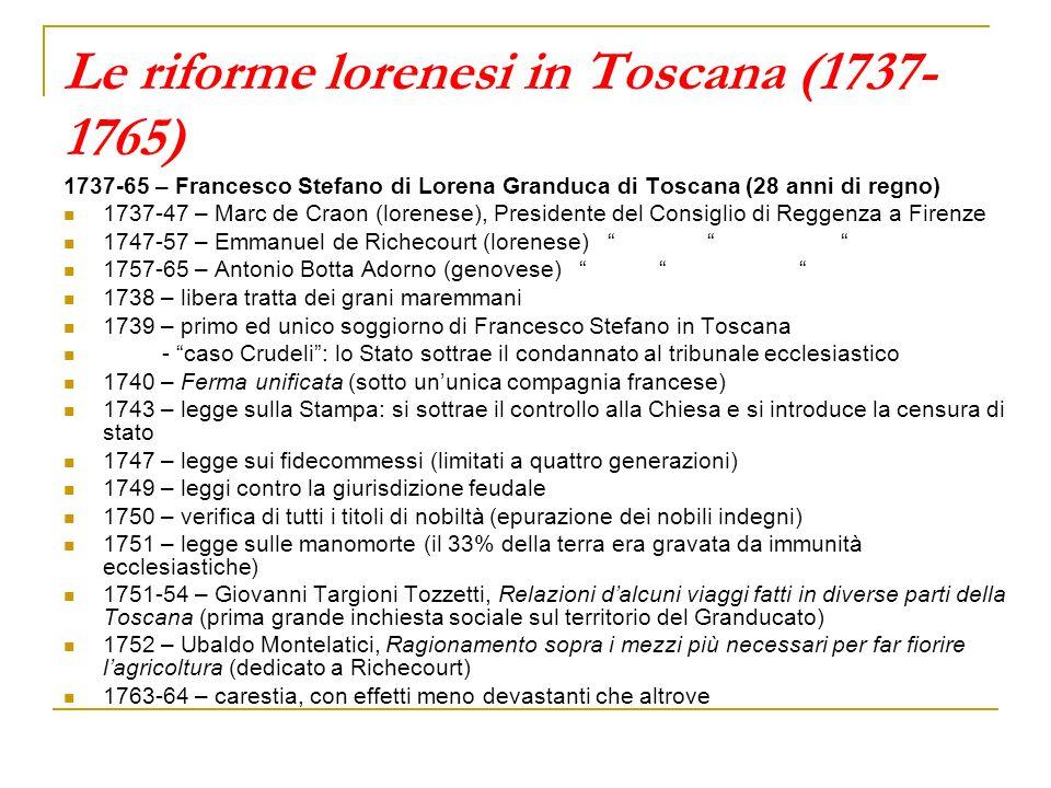 Le riforme lorenesi in Toscana (1737-1765)