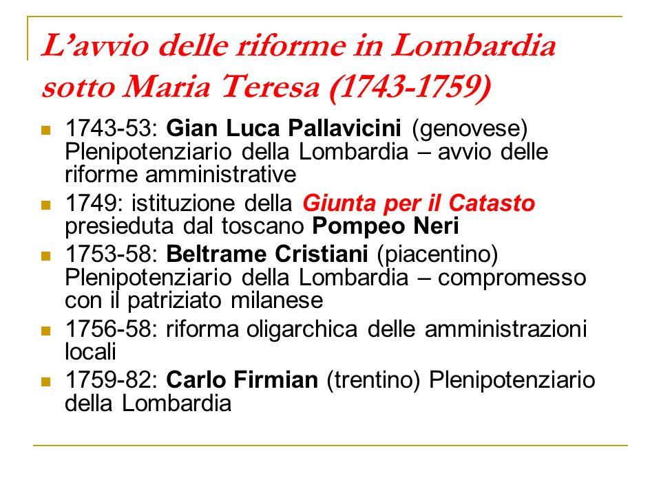 L'avvio delle riforme in Lombardia sotto Maria Teresa (1743-1759)