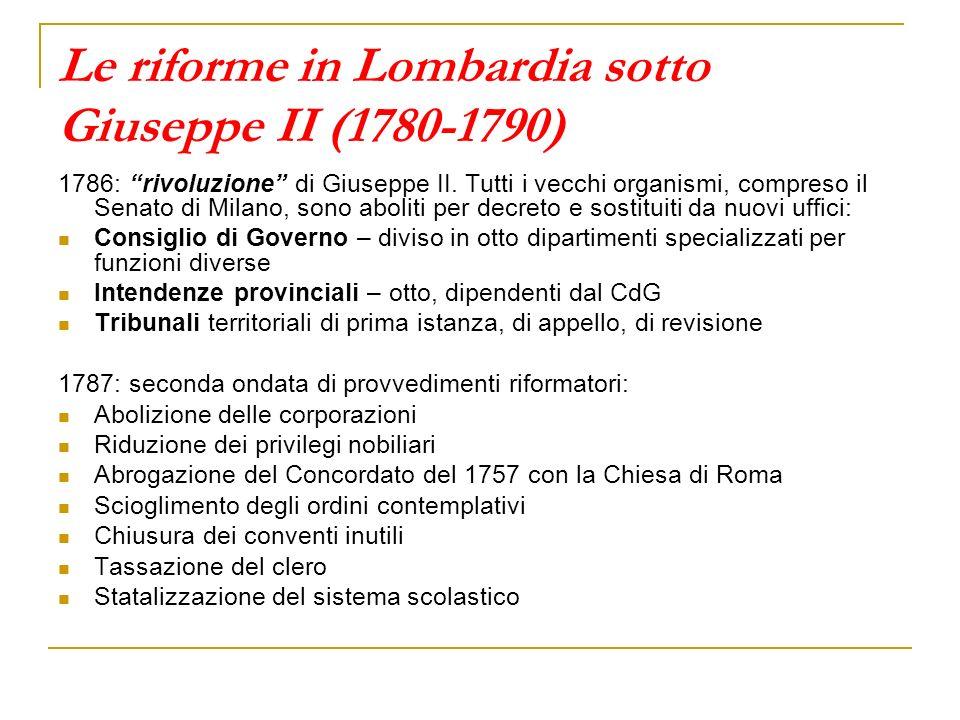 Le riforme in Lombardia sotto Giuseppe II (1780-1790)