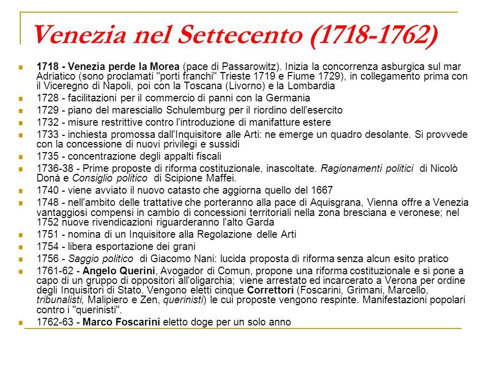 Venezia nel Settecento (1718-1762)