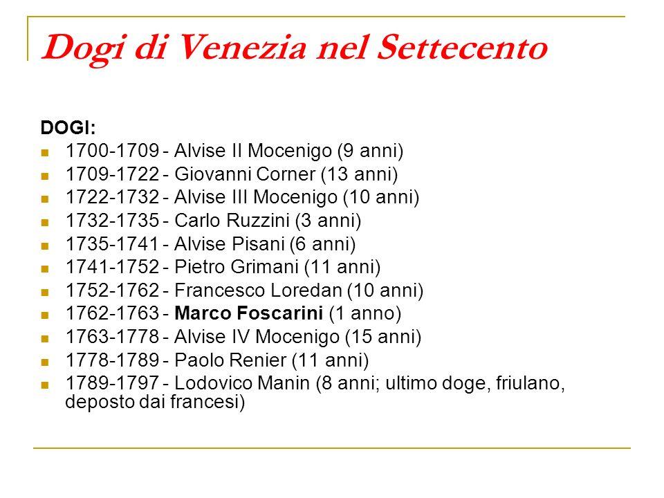 Dogi di Venezia nel Settecento