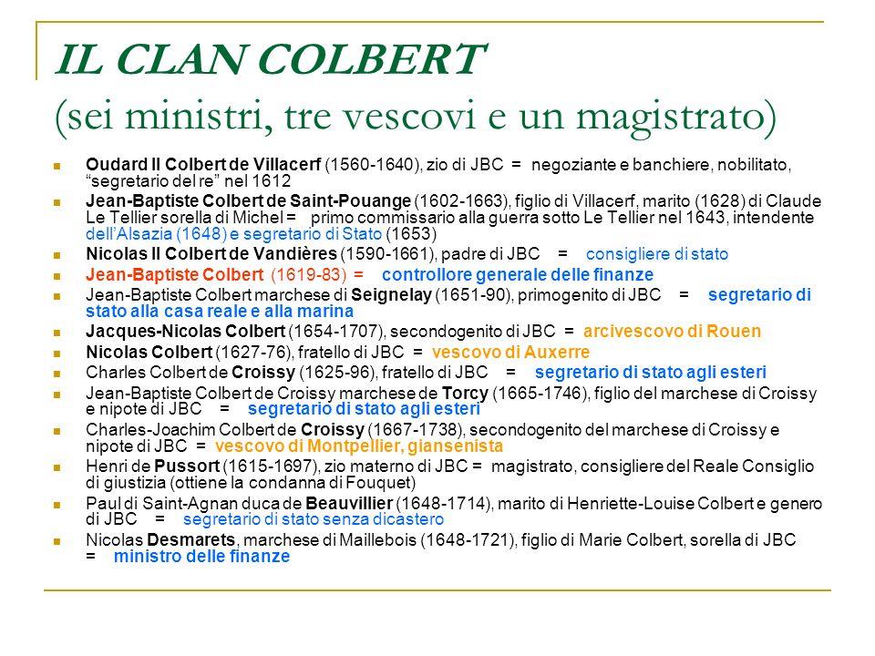 IL CLAN COLBERT (sei ministri, tre vescovi e un magistrato)