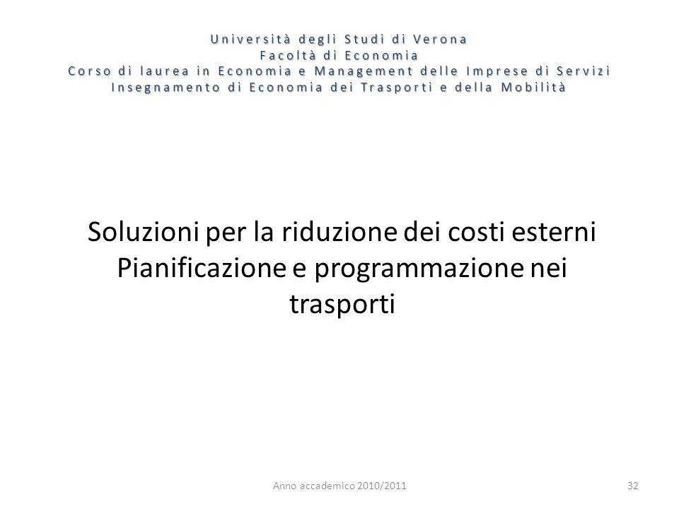 Soluzioni per la riduzione dei costi esterni