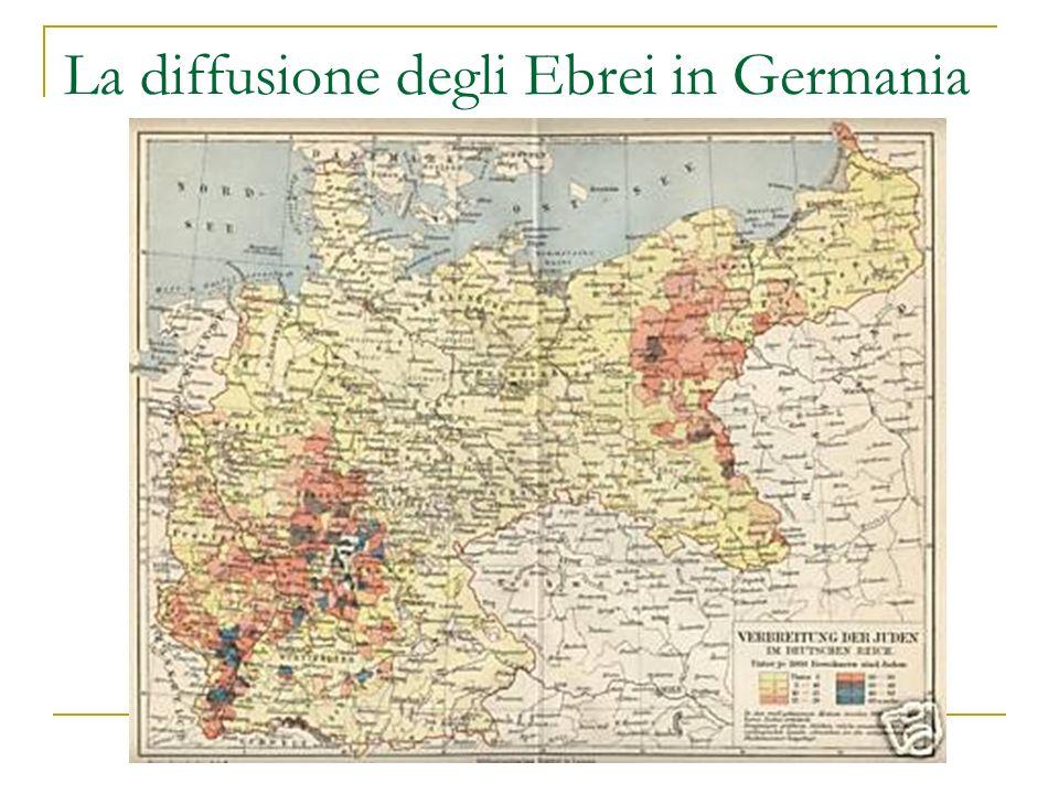 La diffusione degli Ebrei in Germania