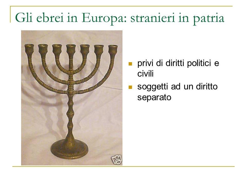 Gli ebrei in Europa: stranieri in patria