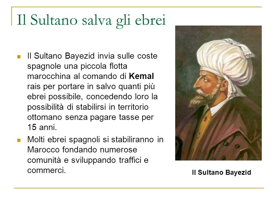Il Sultano salva gli ebrei