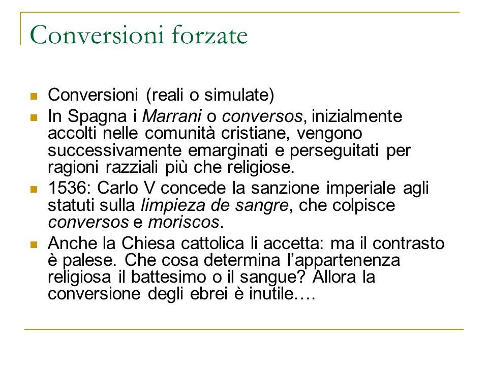 Conversioni forzate Conversioni (reali o simulate)
