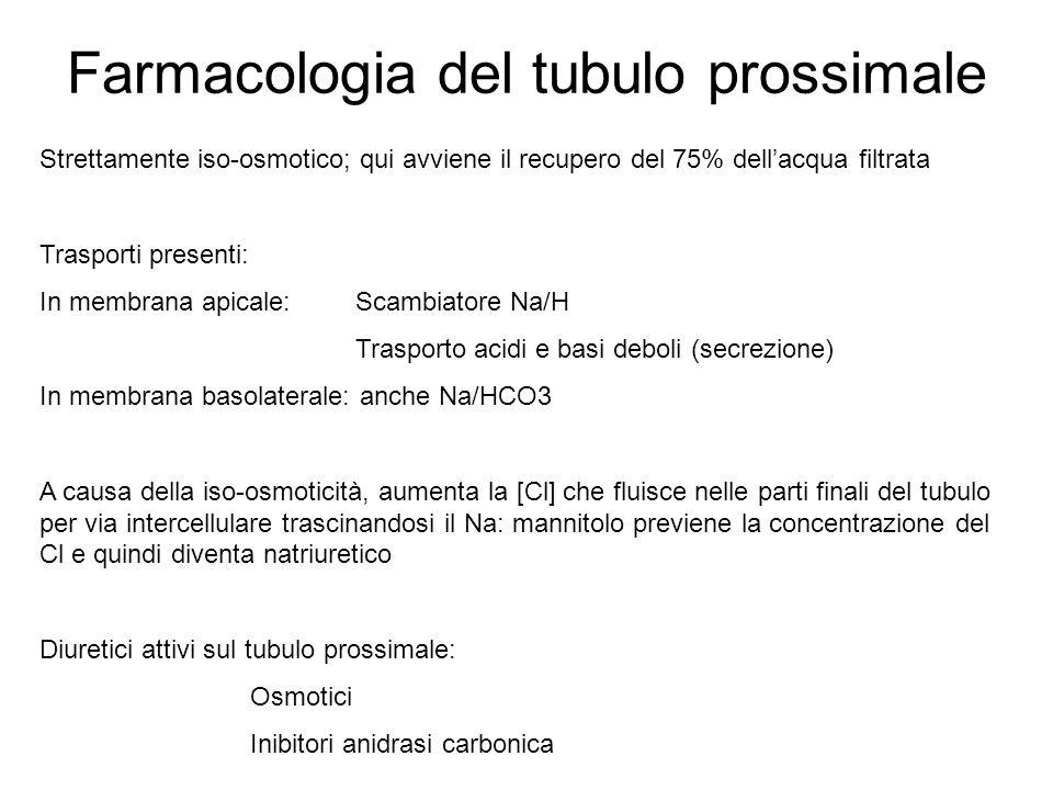 Farmacologia del tubulo prossimale