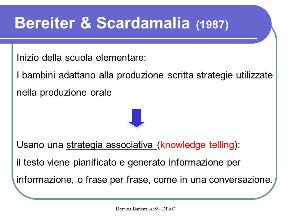 Bereiter & Scardamalia (1987)