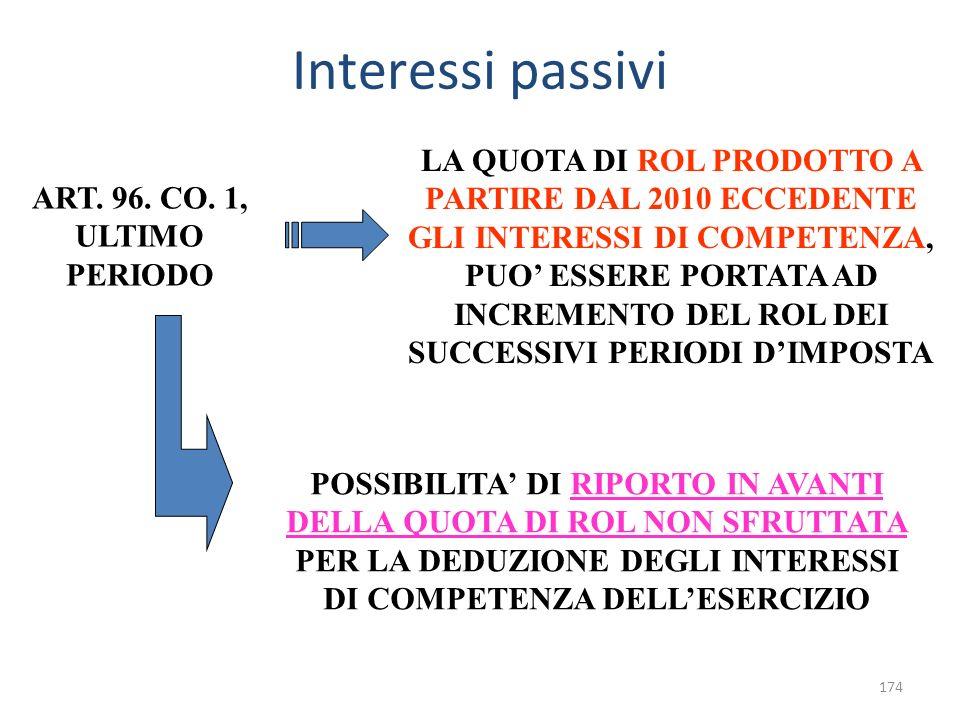 Interessi passivi