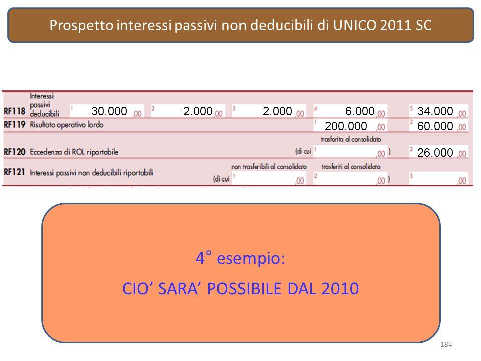CIO' SARA' POSSIBILE DAL 2010