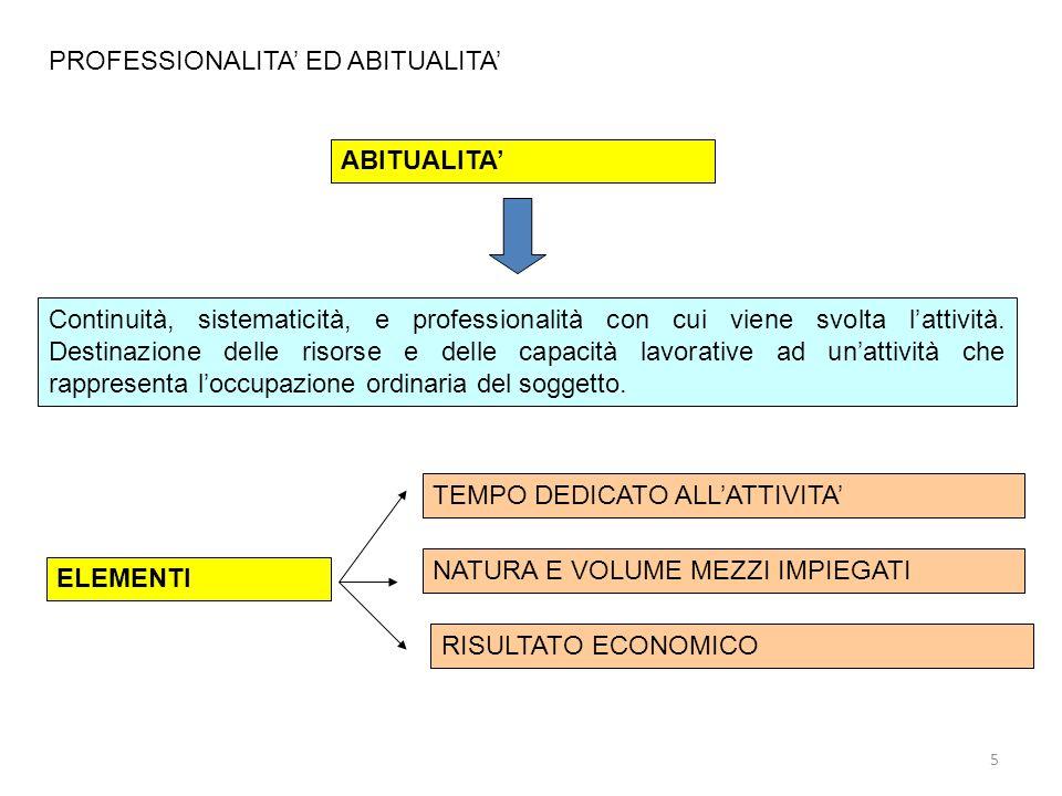 PROFESSIONALITA' ED ABITUALITA'