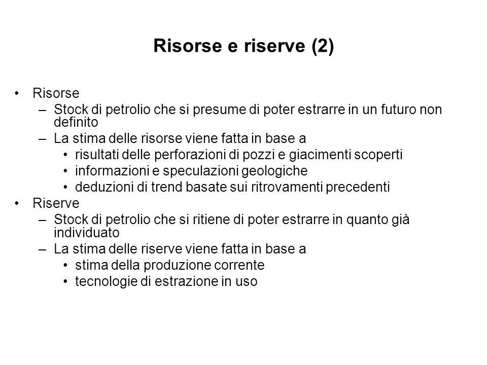 Risorse e riserve (2) Risorse
