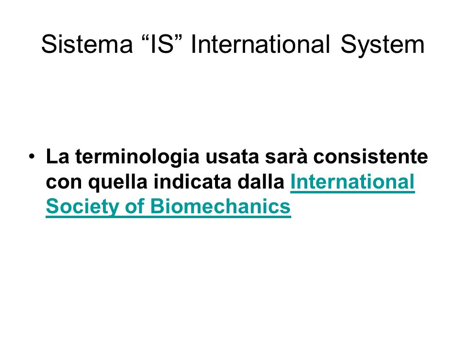 Sistema IS International System