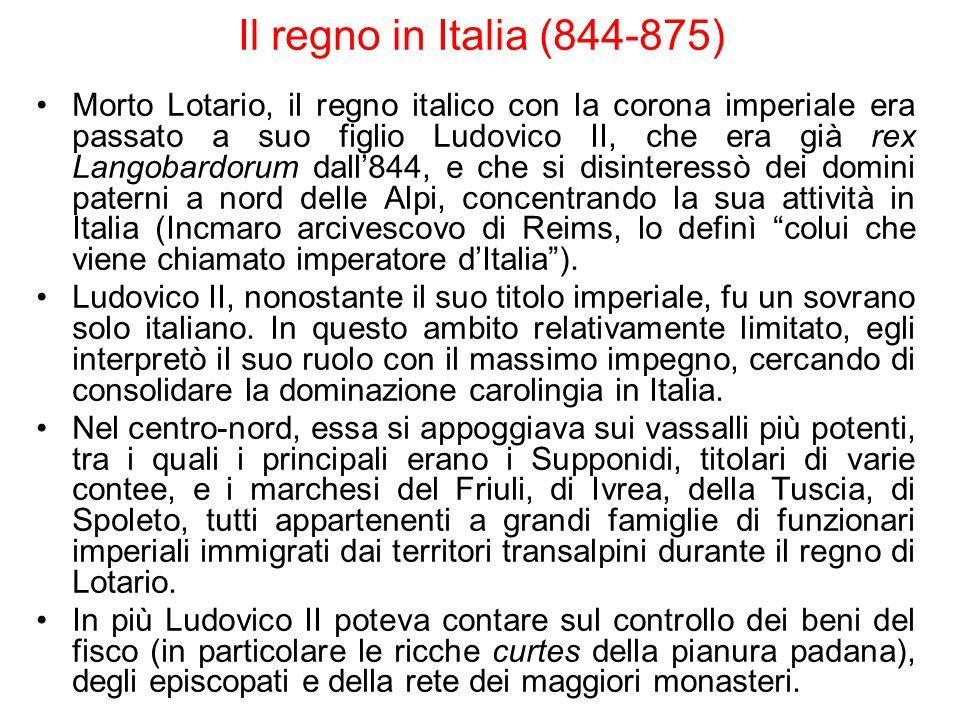 Il regno in Italia (844-875)