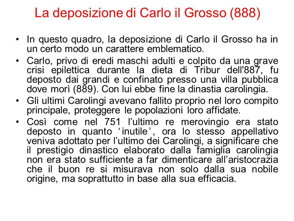 La deposizione di Carlo il Grosso (888)