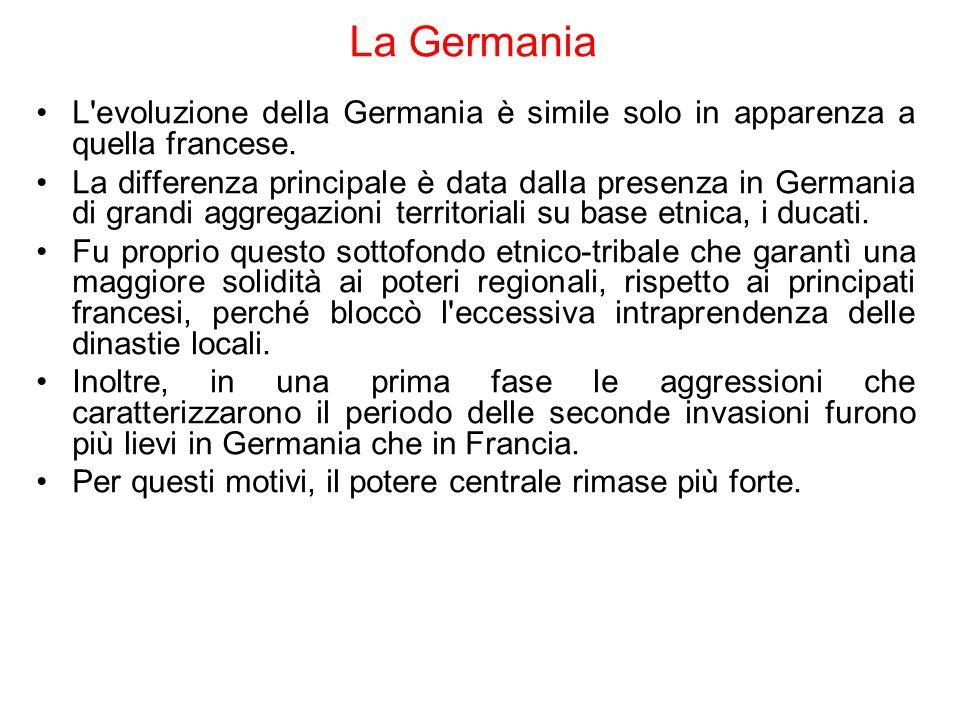 La Germania L evoluzione della Germania è simile solo in apparenza a quella francese.
