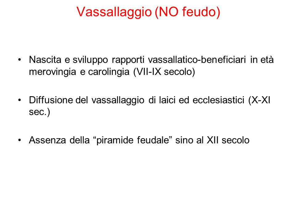Vassallaggio (NO feudo)