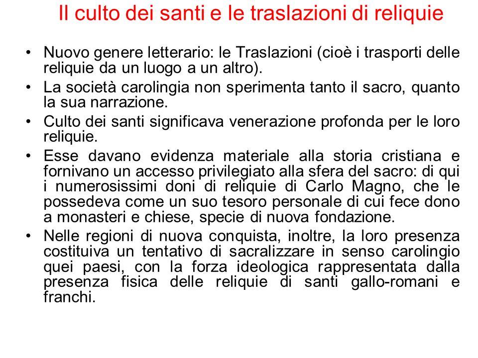 Il culto dei santi e le traslazioni di reliquie