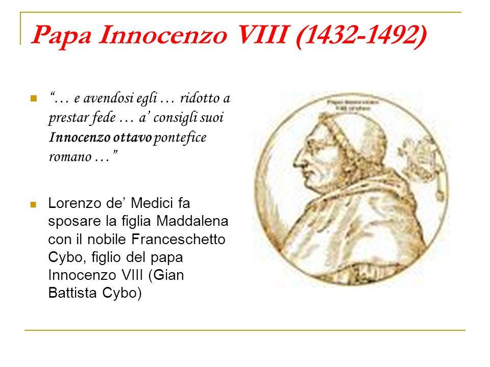 Papa Innocenzo VIII (1432-1492)