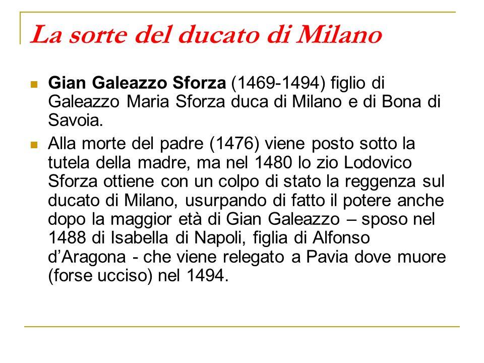 La sorte del ducato di Milano