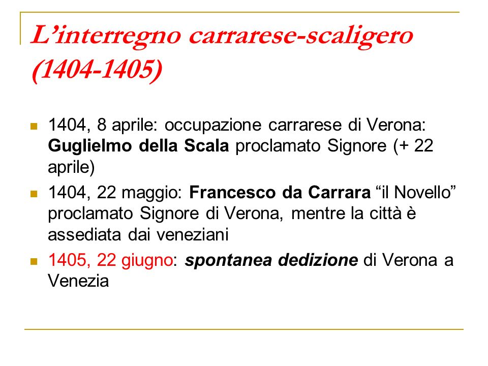 L'interregno carrarese-scaligero (1404-1405)