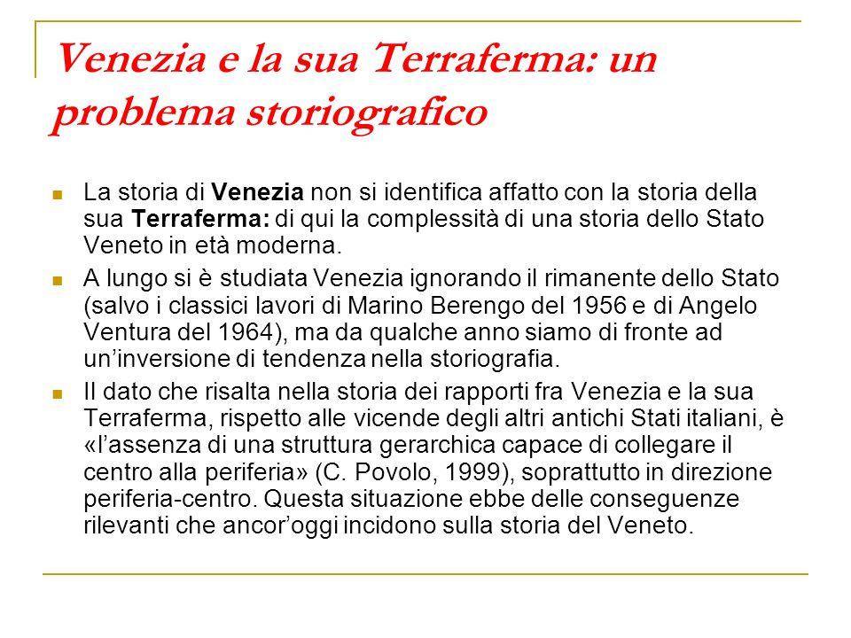 Venezia e la sua Terraferma: un problema storiografico