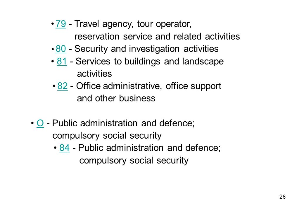 • 79 - Travel agency, tour operator,