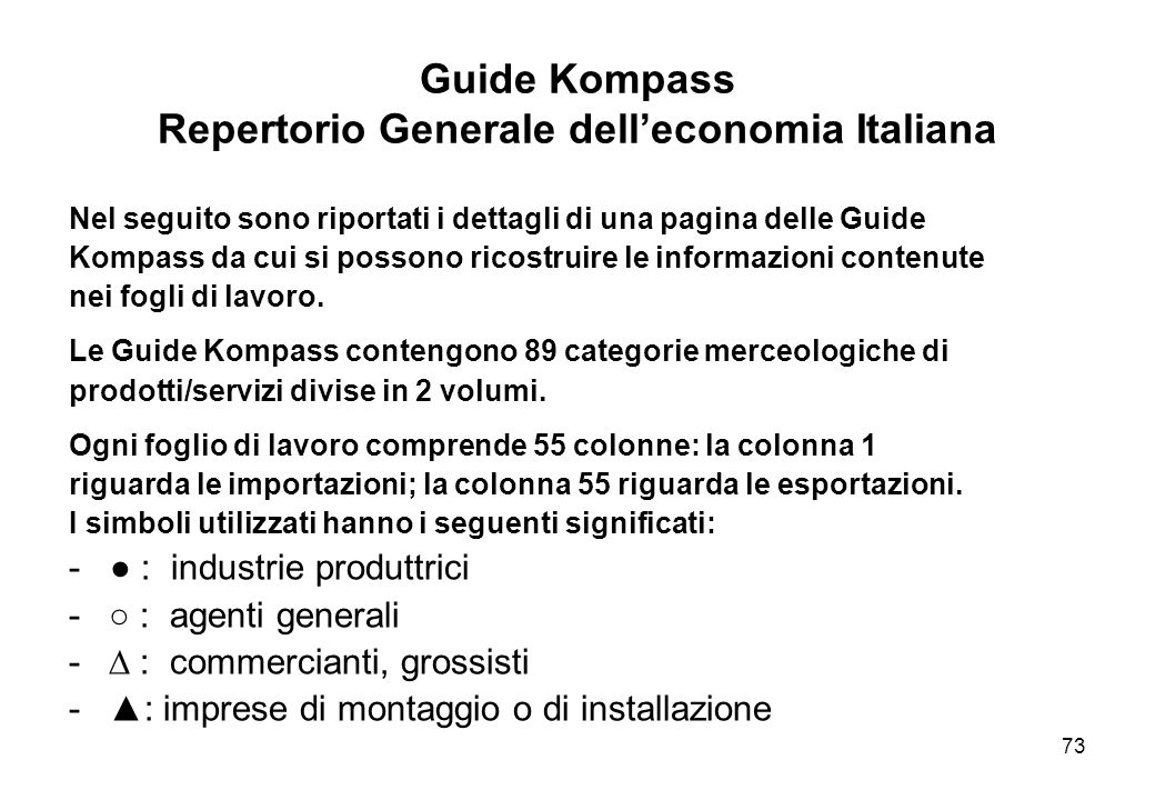 Guide Kompass Repertorio Generale dell'economia Italiana
