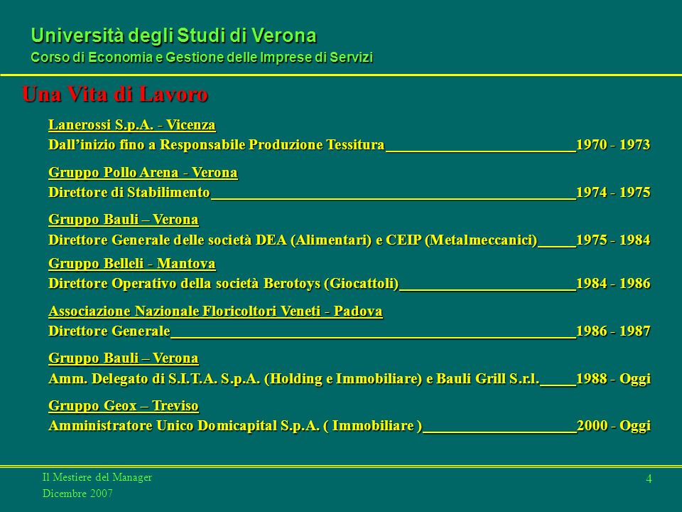 Una Vita di Lavoro Lanerossi S.p.A. - Vicenza