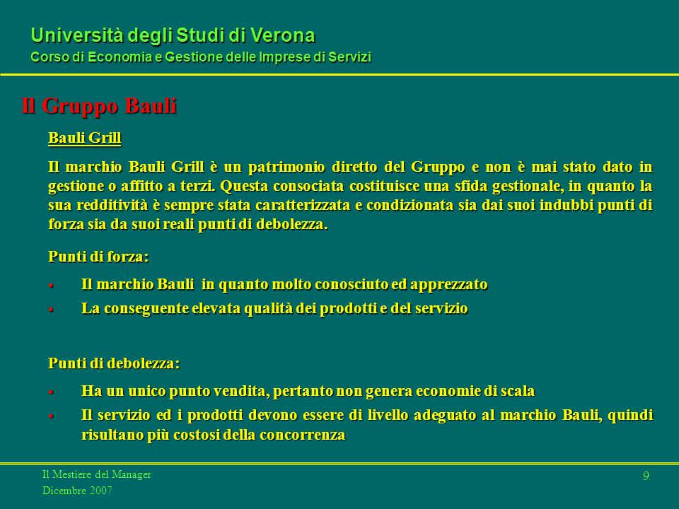 Il Gruppo Bauli Bauli Grill