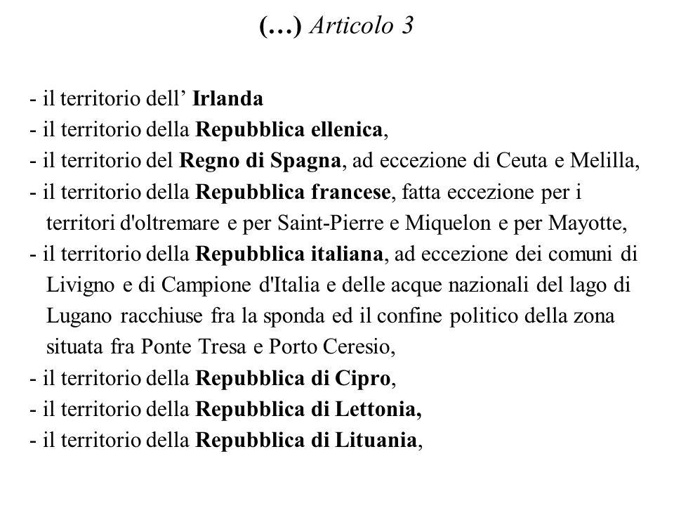 (…) Articolo 3 - il territorio dell' Irlanda
