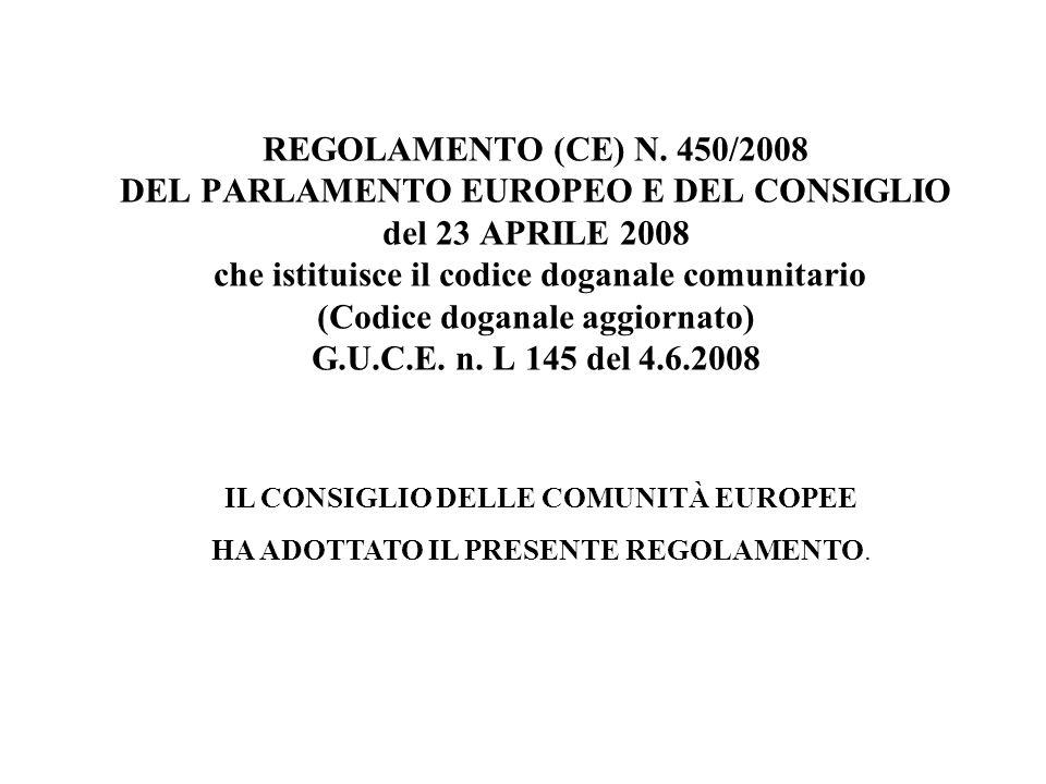 IL CONSIGLIO DELLE COMUNITÀ EUROPEE