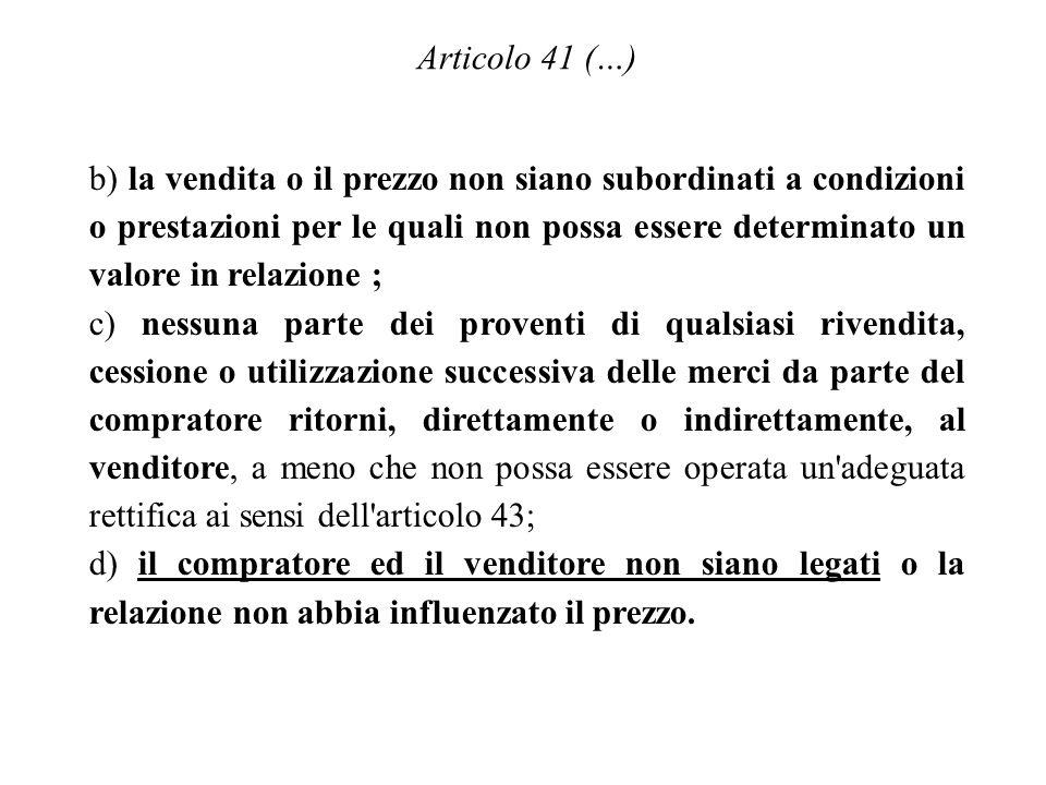 Articolo 41 (…)