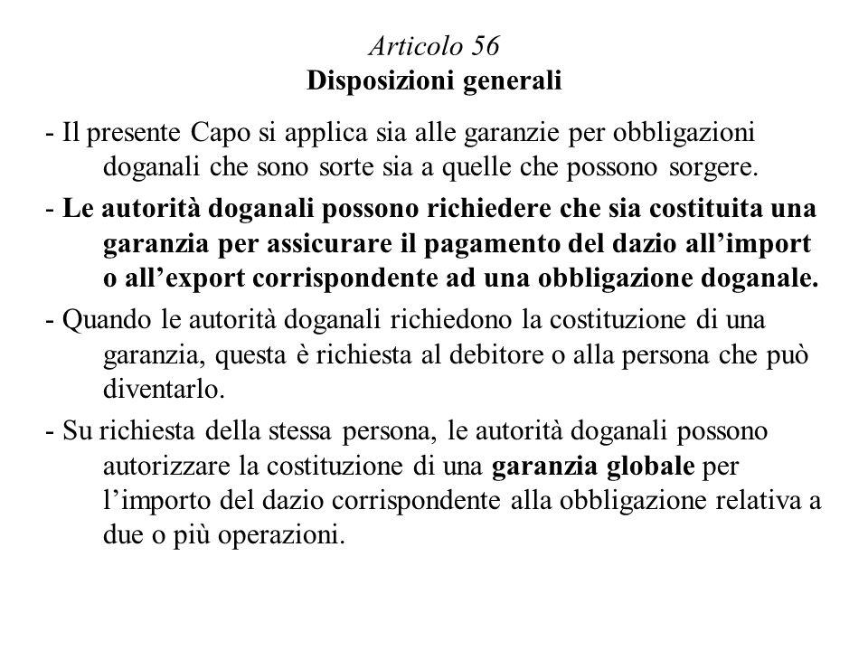 Articolo 56 Disposizioni generali