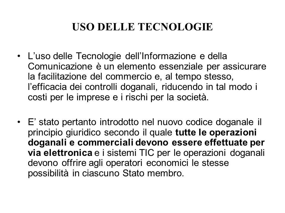 USO DELLE TECNOLOGIE