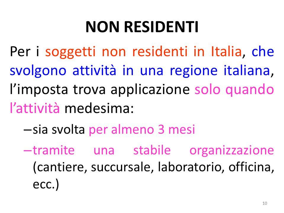 NON RESIDENTI