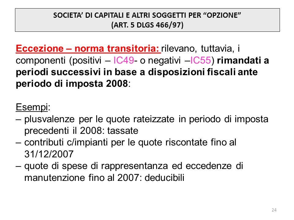 contributi c/impianti per le quote riscontate fino al 31/12/2007
