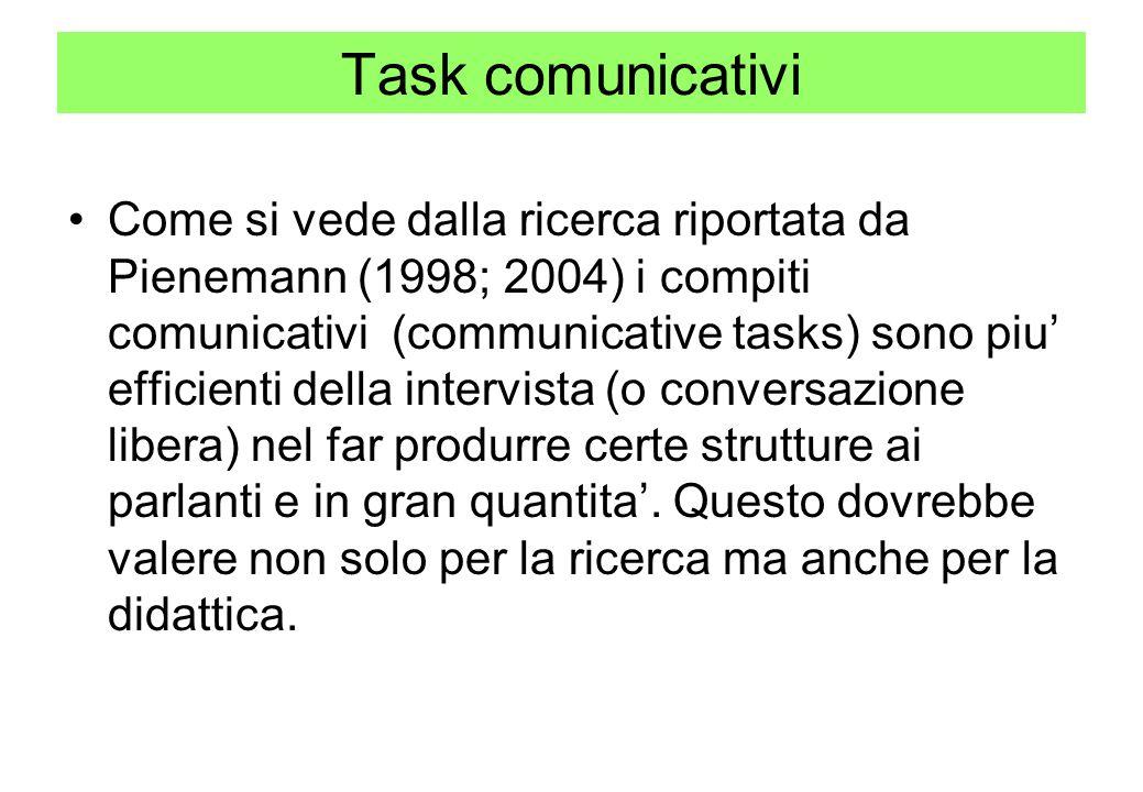 Task comunicativi
