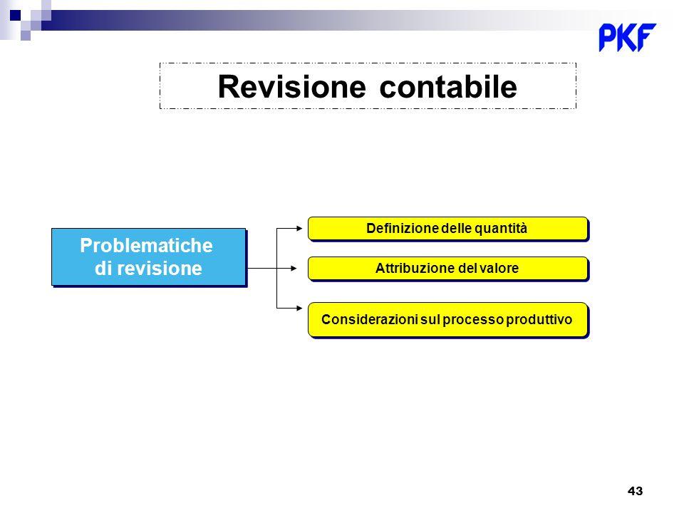 Revisione contabile Problematiche di revisione