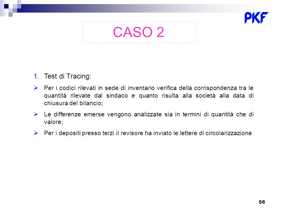 CASO 2 Test di Tracing: