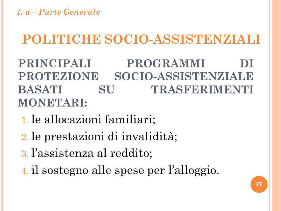 POLITICHE SOCIO-ASSISTENZIALI