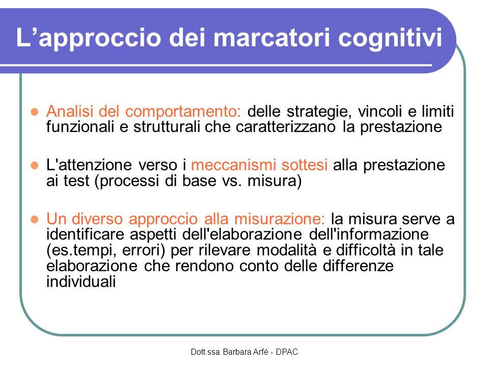 L'approccio dei marcatori cognitivi