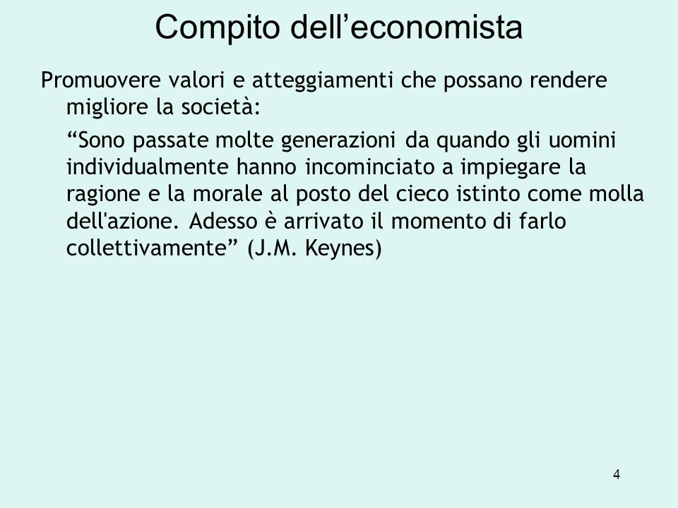 Compito dell'economista