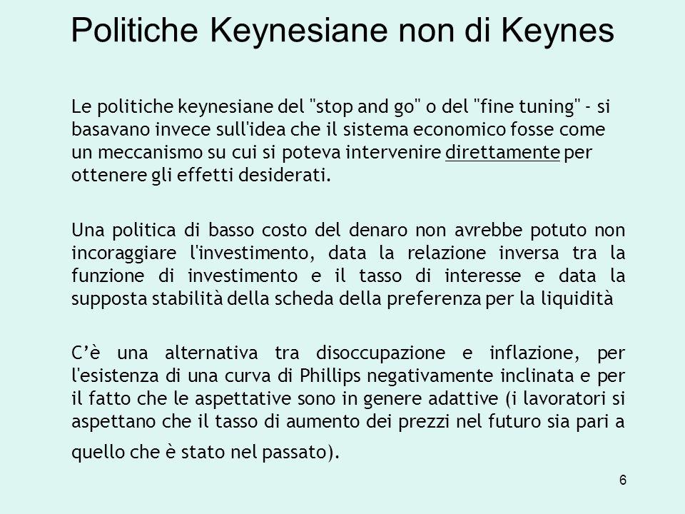 Politiche Keynesiane non di Keynes