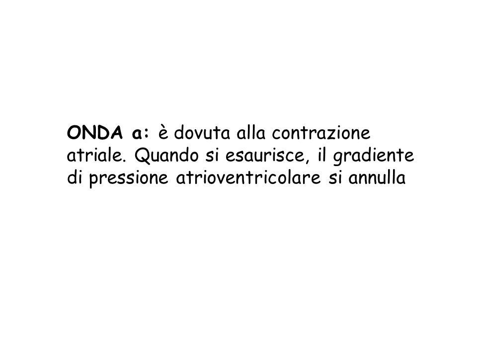 ONDA a: è dovuta alla contrazione atriale