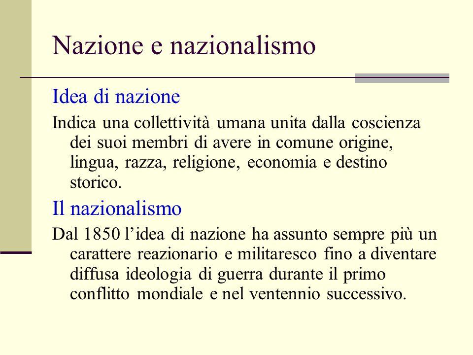 Nazione e nazionalismo