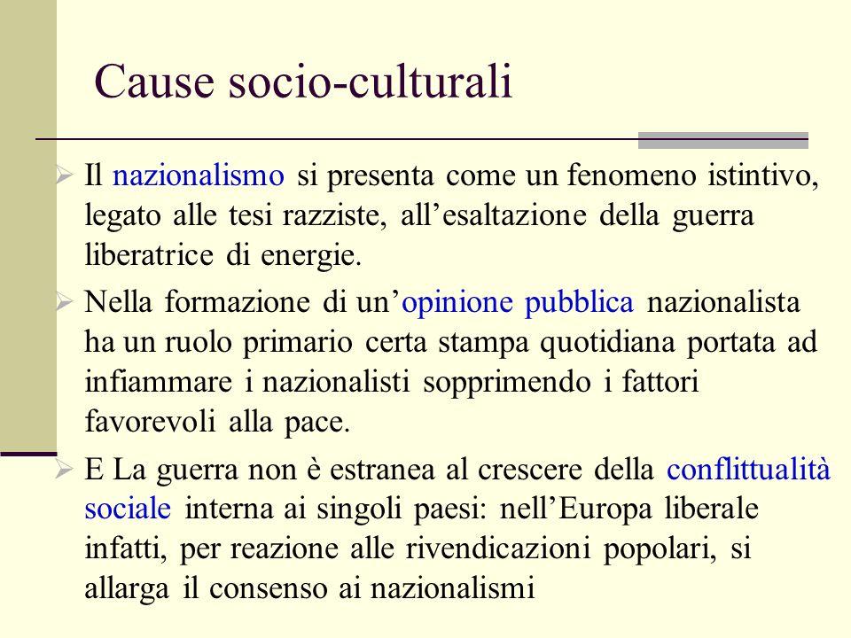 Cause socio-culturali